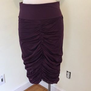 Wolford Ruched Midi Skirt